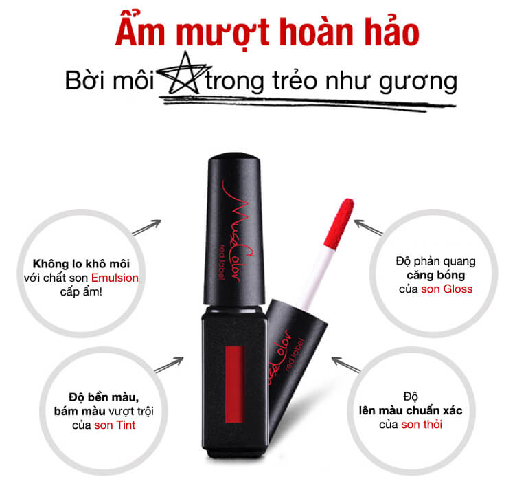MuseColor Red label Lip Tint