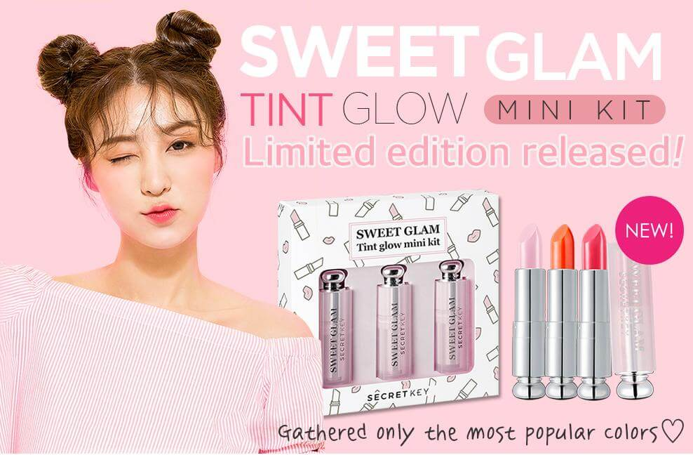 Combo Secret Key Sweet Glam Tint Glow