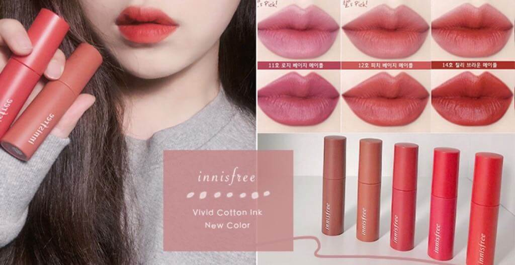 Son Tint Lì Innisfree Vivid Cotton Ink