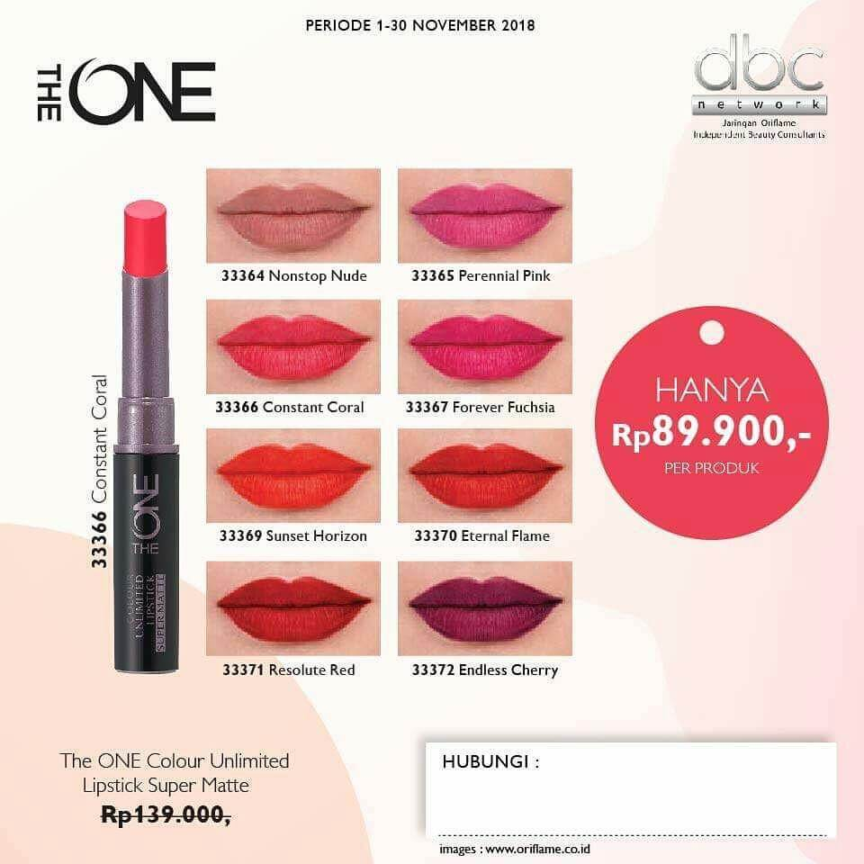 Bảng màu Son The ONE Colour Unlimited Lipstick Super Matte