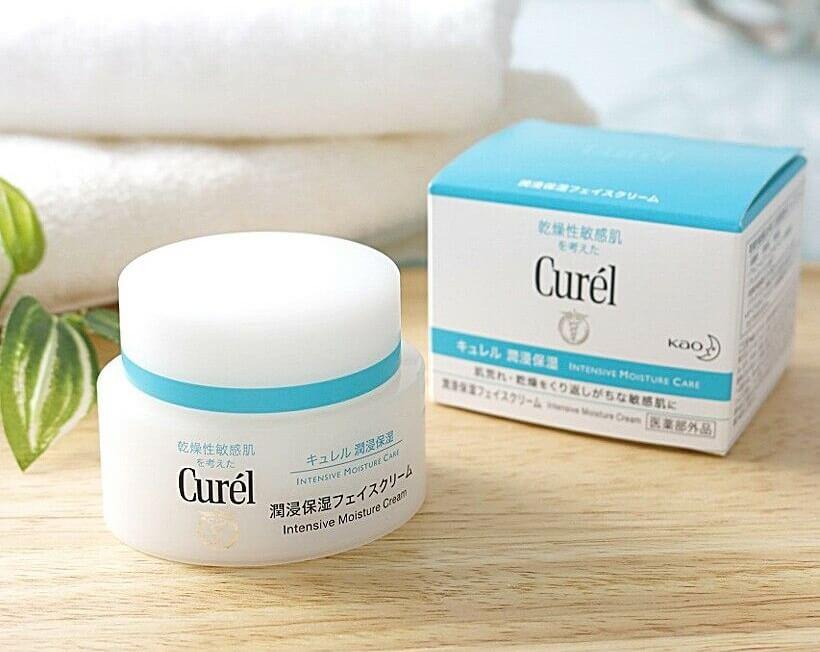Kem dưỡng da mặt Curel Intensive Moisture Cream 40g.