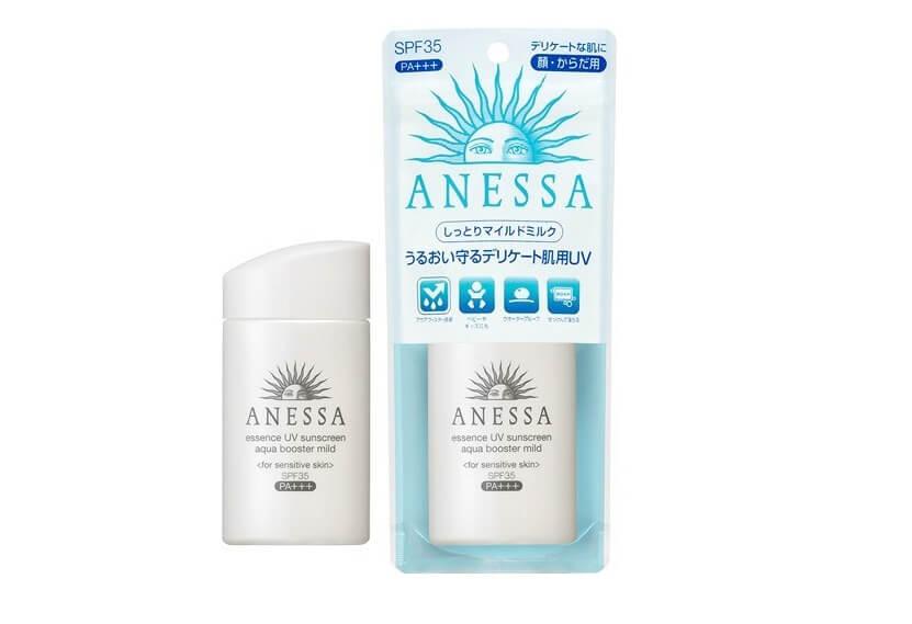 Kem chống nắng Anessa Essence UV suncreen aqua booster mild SPF 35+ PA+++