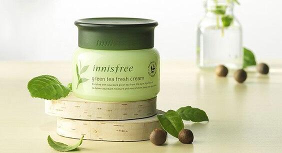 Kem dưỡng da Innisfree trà xanh - Green Tea Fresh Cream.