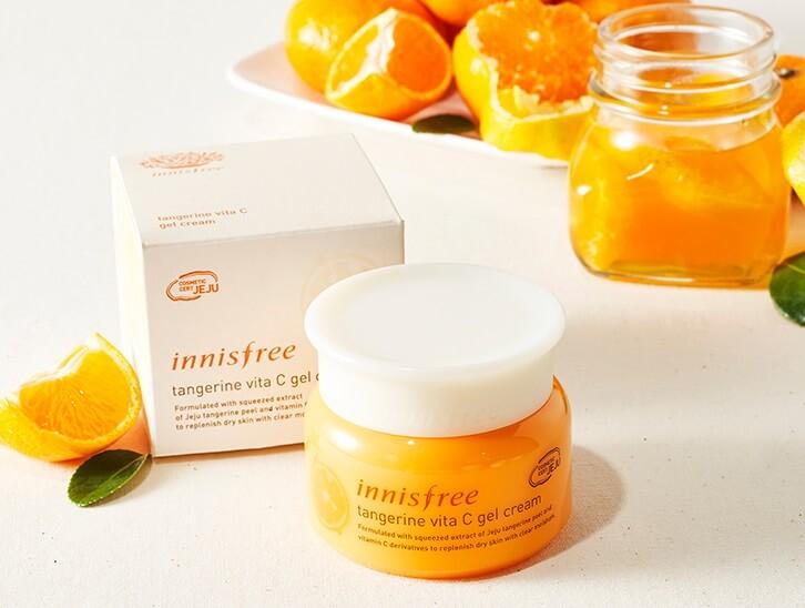 Kem dưỡng da Innisfree Tangerine Vita C Gel Cream.