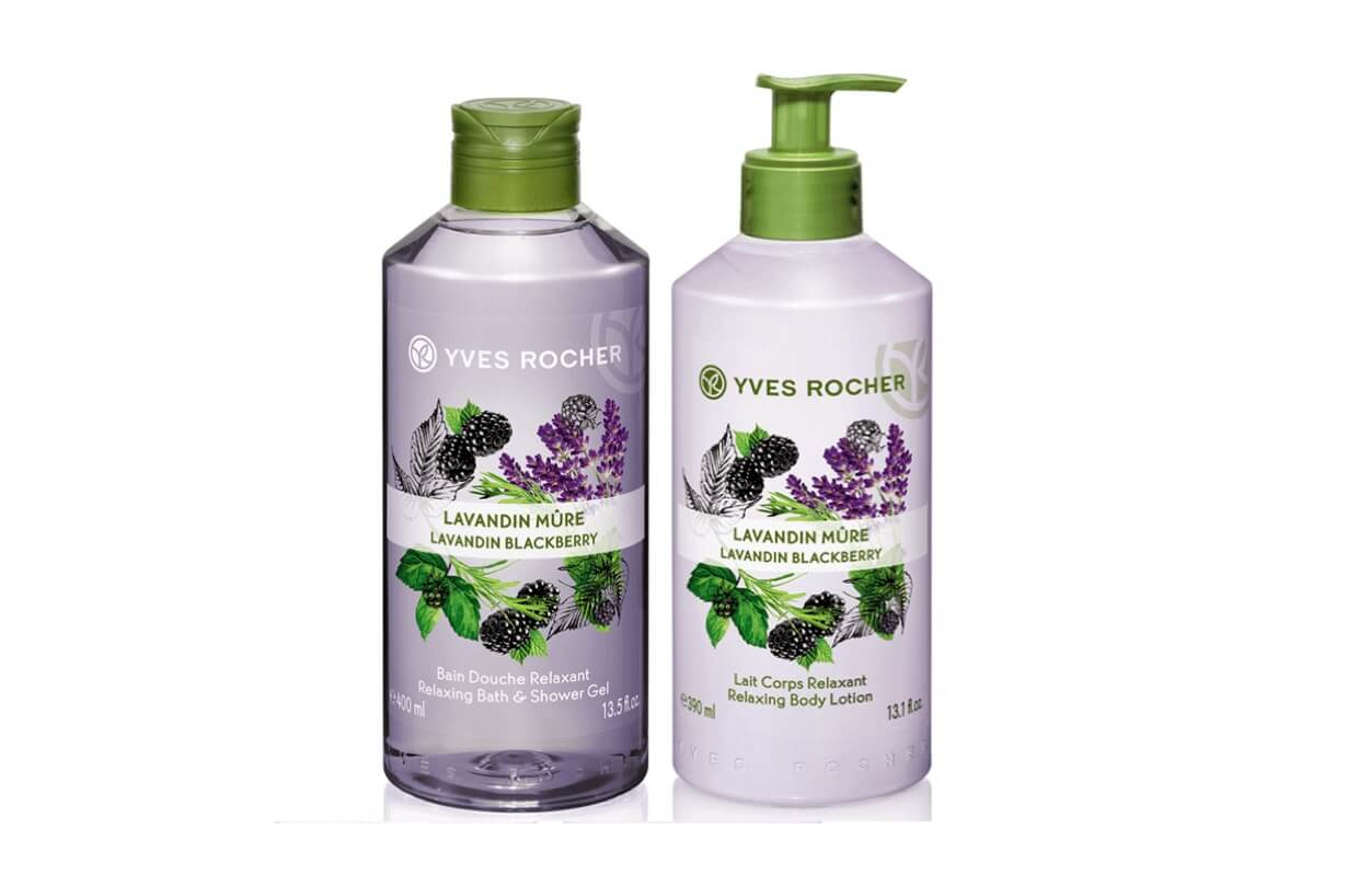 Kem dưỡng da Yves Rocher Relaxing Body Lotion Lavandin Blackberry