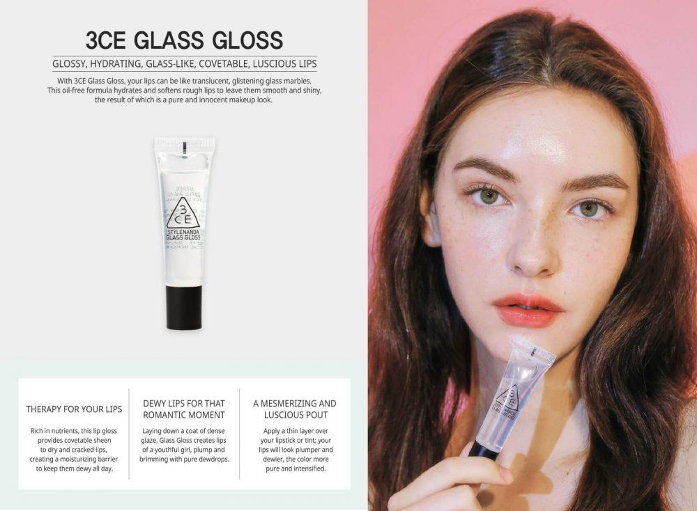 Son bóng 3CE Glass Gloss