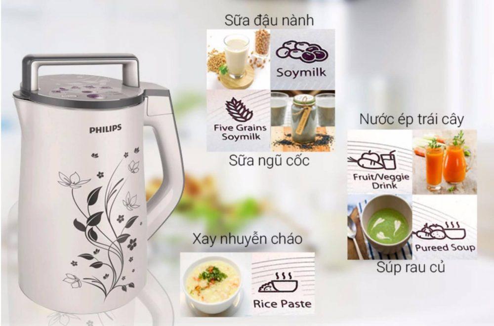 Máy làm sữa đậu nành Philips HD2072.