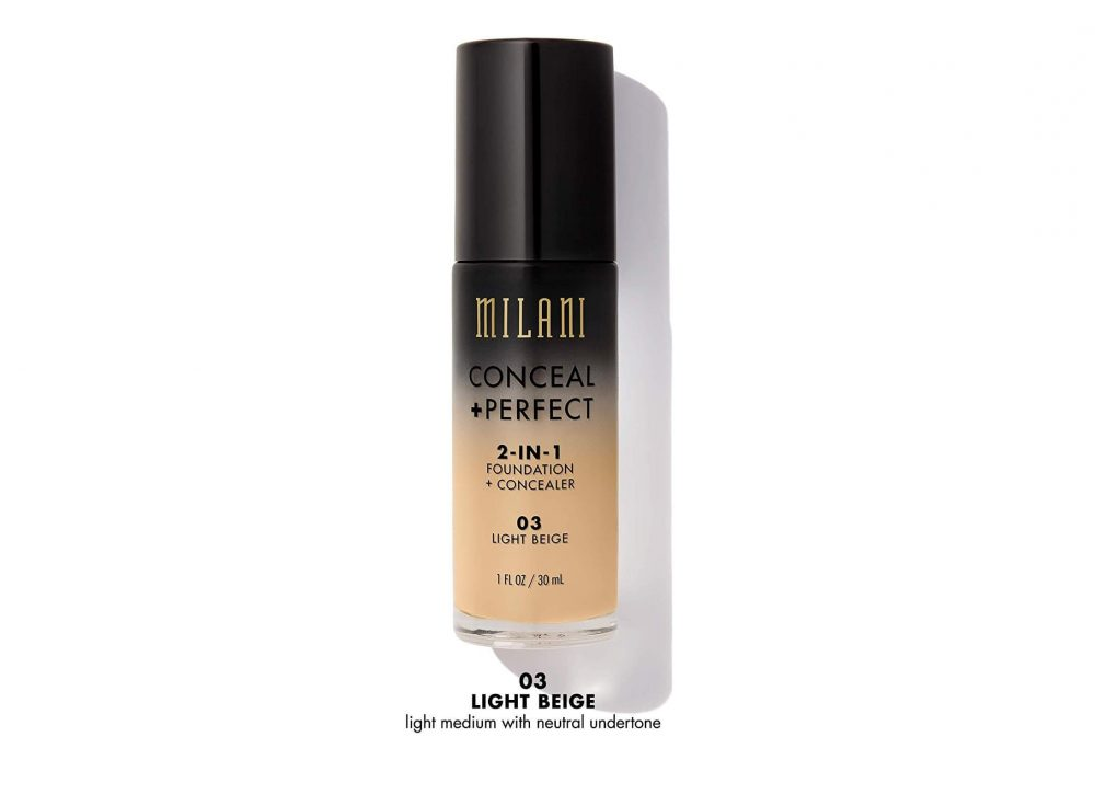 Kem nền Milani CONCEAL + PERFECT 2-IN-1 Foundation + Concealer