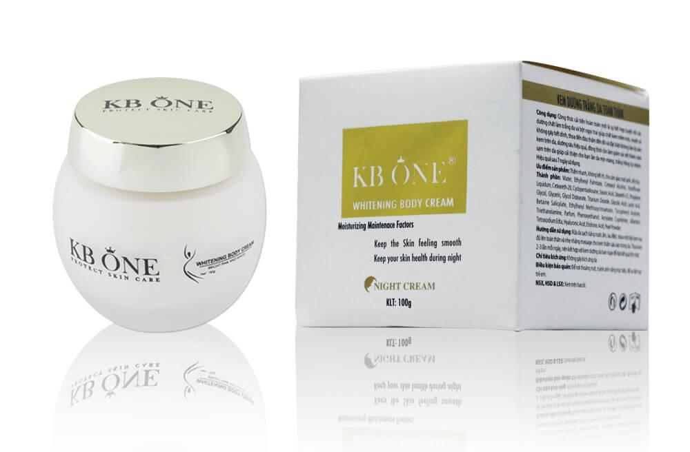 Kem dưỡng trắng da toàn thân KB One Whitening Body Cream 100g