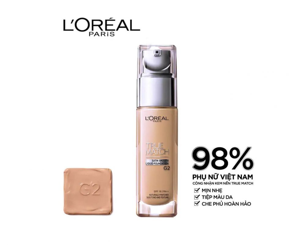 Kem nền L'Oreal Paris True Match Liquid Foundation.