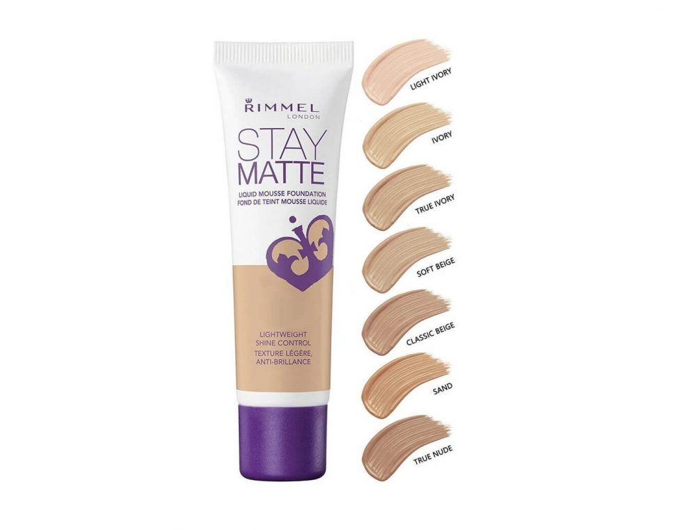 Rimmel London Stay Matte Liquid Mousse Foundation.