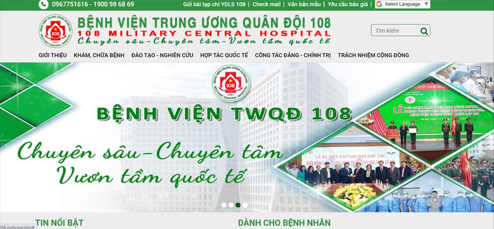 hnh anh website benh vien108.vn