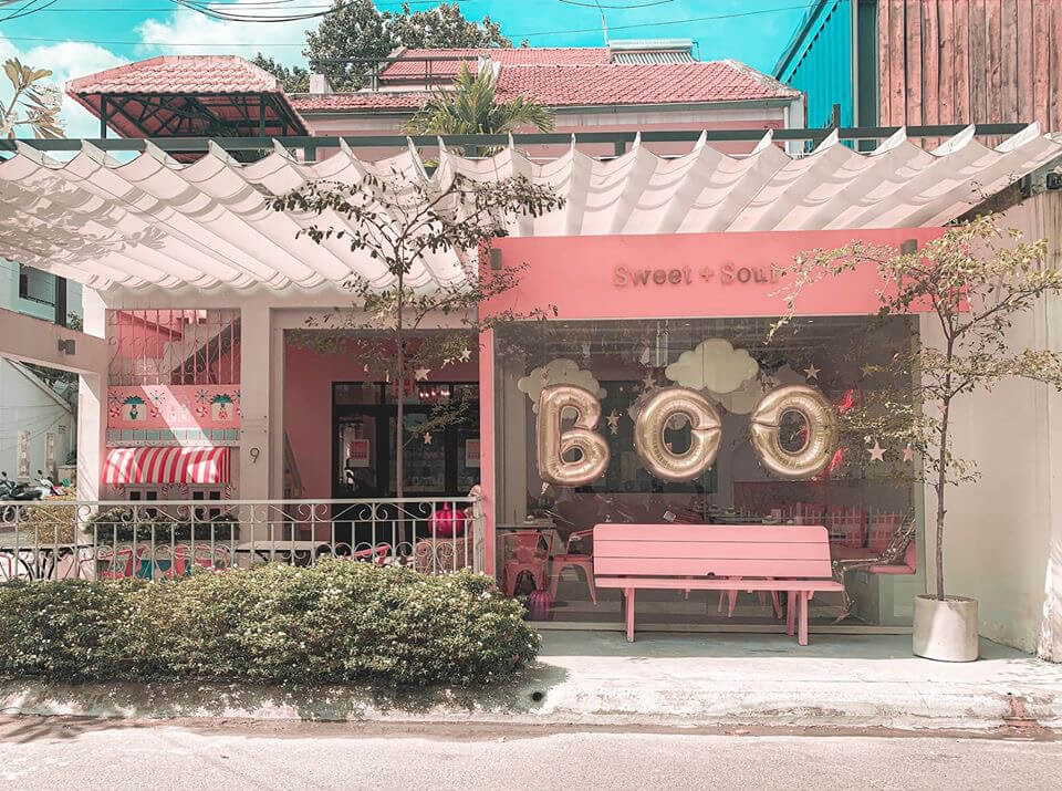 Sweet & Sour Bakery duoc decor theo style han quoc danh cho cac nang banh beo